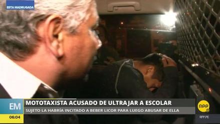 Capturan a un mototaxista acusado de violar a una escolar en Chorrillos
