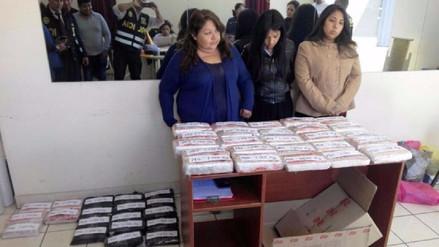 La policía detuvo a cuatro chilenas con 48 kilos de marihuana en Tacna