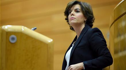 Vicepresidenta de España asumirá las funciones Puigdemont en Cataluña