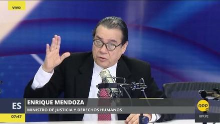 """Ministro de Justicia: """"El indulto a Fujimori no está en mi despacho, no lo estamos viendo"""""""