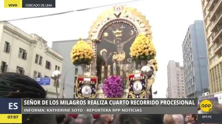 El Señor de los Milagros realiza su cuarto recorrido procesional