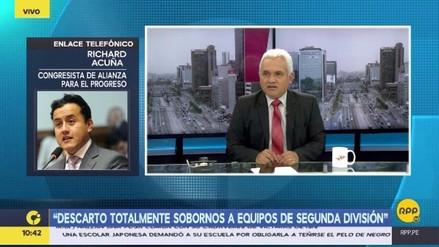 Richard Acuña negó que la César Vallejo haya querido arreglar un partido