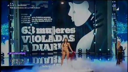 Miss Perú: Leslie Shaw emocionó con canción de apoyo a las mujeres