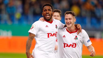 Dos goles y una asistencia: el partidazo de Jefferson Farfán con el Lokomotiv
