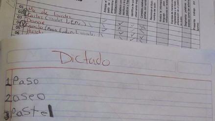 Dictado de niño de 7 años se vuelve viral por distraída respuesta