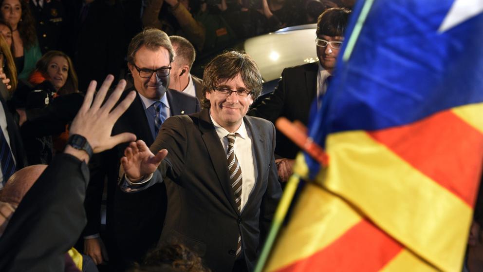 El expresidente catalán Carles Puigdemont está en Bruselas