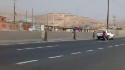 Puente Piedra: Conductores se quejan por peatones que cruzan la pista de manera imprudente