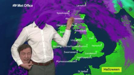 Video | Presentador 'decapitado' presenta las noticias del clima