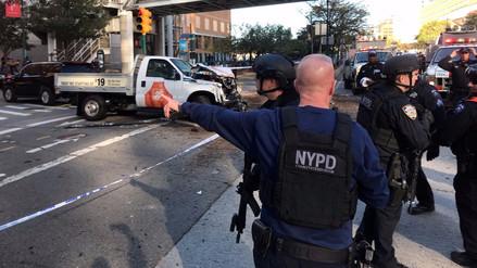 Un atropello y tiroteo en el centro de Manhattan dejó 8 muertos