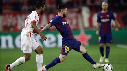 Barcelona empató sin goles a domicilio contra el Olympiakos en Atenas