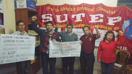 Docentes del Sutep Lambayeque levantaron su huelga de hambre