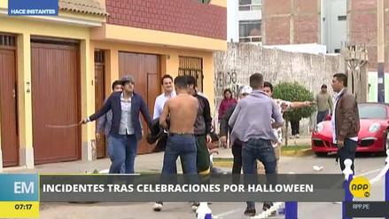 Jóvenes se pelean a correazos tras fiesta de Halloween en Chorrillos