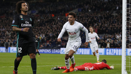 Tottenham derrotó al Real Madrid y es líder en su grupo de Champions League