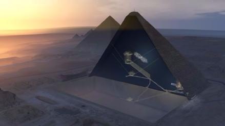 Partículas del espacio revelan una misteriosa cavidad dentro de la pirámide de Keops