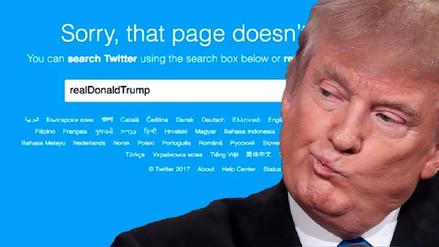 Twitter desactivó por error la cuenta de Donald Trump
