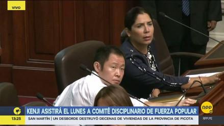 Kenji Fujimori acudirá el 6 de noviembre al Comité Disciplinario de Fuerza Popular