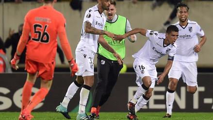 Paolo Hurtado le dio el triunfo al Vitória Guimaraes en la Europa League