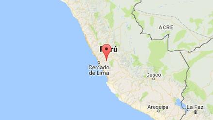 Un sismo se registró en la región Lima esta madrugada