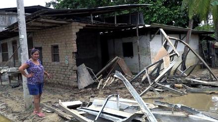 Picota: el 90% de viviendas quedaron inhabitables en distrito Tres Unidos