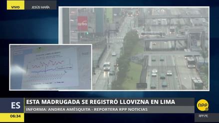 Una intensa llovizna cayó en Lima durante la madrugada