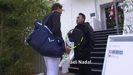 Video | Vigilante no deja pasar a Rafael Nadal y le pregunta ¿quién eres?