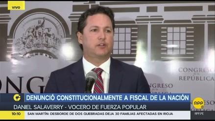 Salaverry negó que denuncia a Sánchez sea represalia por investigación a Keiko Fujimori