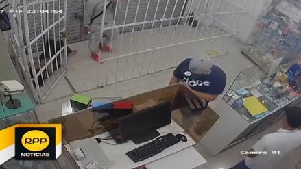 Cámaras de seguridad captan asalto a farmacia de La Esperanza