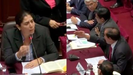 Congresista Yohny Lescano tuvo intercambio de palabras con fujimoristas