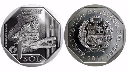 BCR: El cocodrilo de Tumbes es el protagonista de la nueva moneda de S/1
