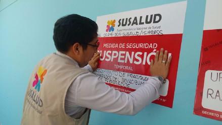 Susalud detecta riesgos sanitarios en áreas del hospital Cayetano Heredia