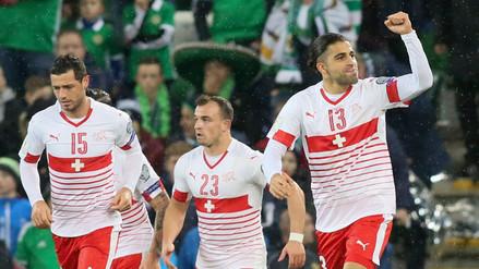 Suiza venció 1-0 de visita a Irlanda del Norte por la ida del repechaje europeo