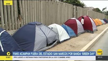Green Day: Fanáticos acampan al exterior del Estadio de San Marcos
