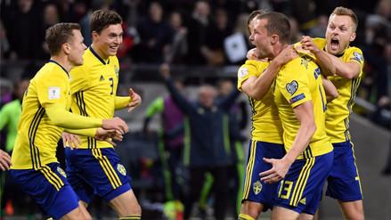 Suecia le sacudió el piso a Italia y dio un paso a Rusia 2018