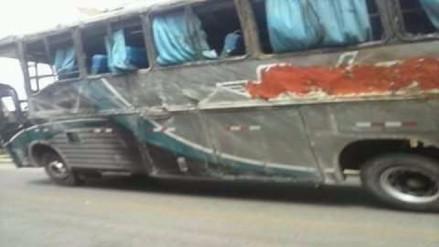 Bus interprovincial se despista y deja 19 pasajeros heridos