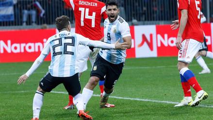 Argentina derrotó 1-0 a Rusia con tanto de Sergio Agüero en Luzhnikí