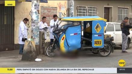 Un hombre fue asesinado mientras trabajaba en su mototaxi en San Martín de Porres