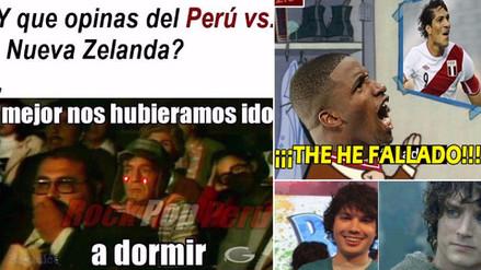 Los memes que generó el empate sin goles de Perú ante Nueva Zelanda