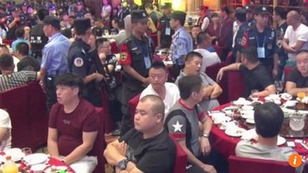 Policía irrumpió en banquete de boda y detuvo a 140 presuntos mafiosos en China