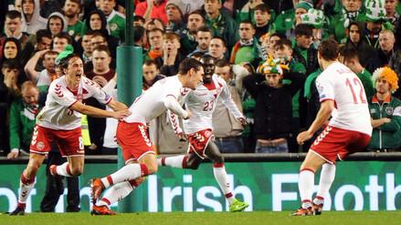 Dinamarca goleó a Irlanda de visita y clasificó al Mundial Rusia 2018