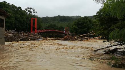 Familias afectadas por desbordes en Picota y Bellavista