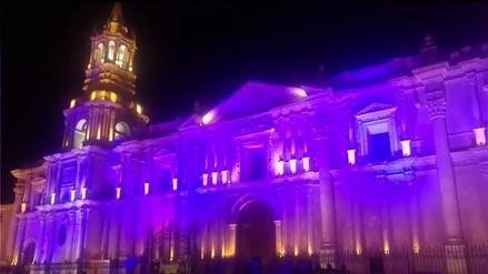 Iluminan de azul la Basílica Catedral por Día Mundial de la Diabetes