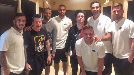 Selección de Nueva Zelanda se tomó una foto junto a la banda Green Day