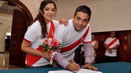 Video | Novios se casan con la camiseta de la Selección Peruana