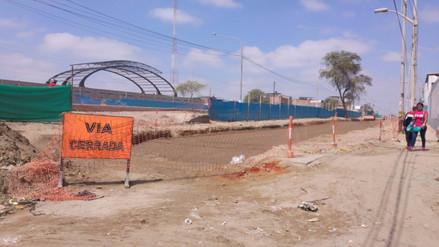 Vías de la avenida Sánchez Cerro serán cerradas en dos semanas
