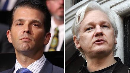 El hijo mayor de Trump y WikiLeaks intercambiaron mensajes durante la campaña