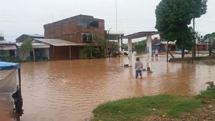 Cinco localidades de San Martín inundadas por desborde de ríos