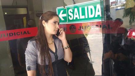 Katiuska acudió al Poder Judicial pero no pudo firmar por feriado no laborable