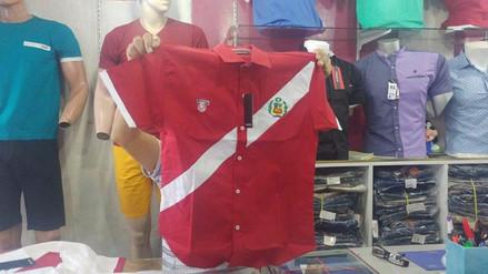 Comerciantes chiclayanos lanzan camisas de la selección peruana
