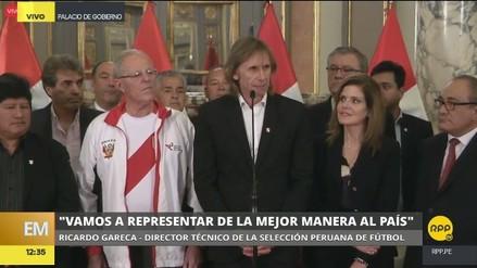 """Ricardo Gareca: """"Nos sentimos orgullosos de poder representar al país"""""""