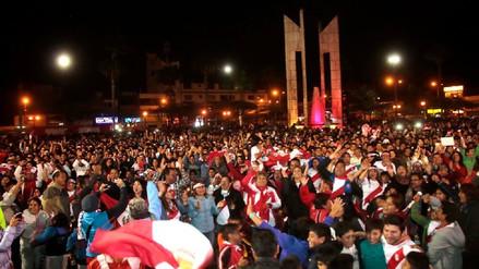 Chimbotanos celebraron clasificación de Perú al mundial Rusia 2018